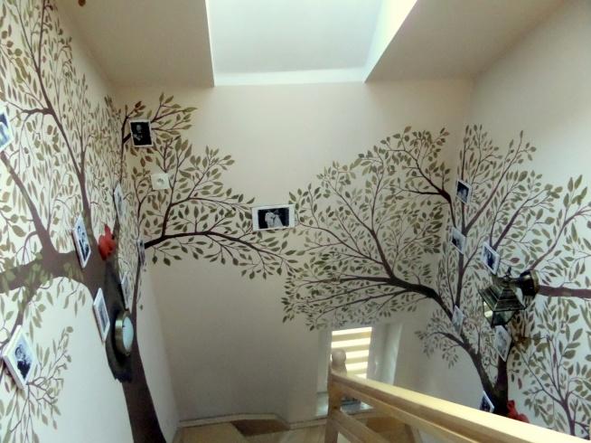 Drzewa genealogiczne na ścianach w domu. Jeśli jesteście ciekawi jak je zrobiono - zapraszamy na bloga po kliknięciu w zdjęcie :)