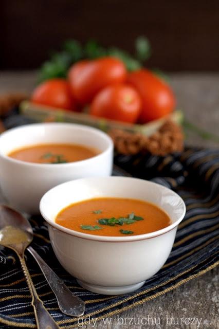 Zupa pomidorowa zabielana kaszą jaglaną