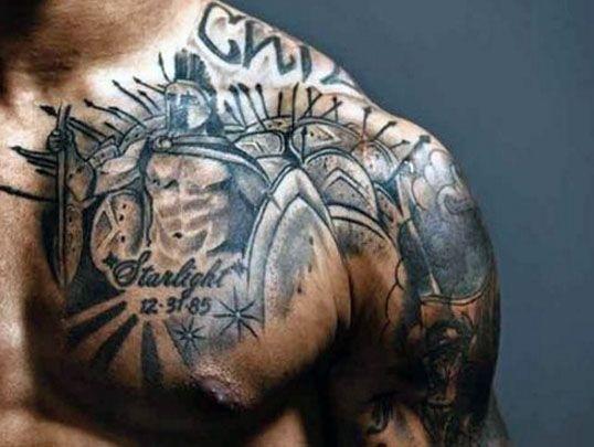 Tatuaże Męskie Na Ramie I Pierś Na Tatuaże Zszywkapl