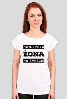 Damska koszulka z napisem Najlepsza Żona na Świecie