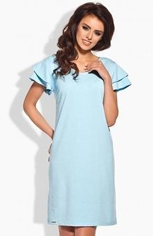 Lemoniade L137 sukienka błękitna Urocza sukienka, wykonana z jednolitego mate...