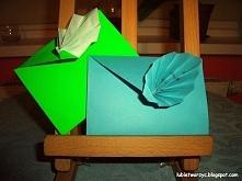 Papierowa, ozdobna koperta wykonana techniką origami