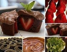 Babeczki czekoladowe wydrąż...