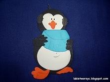 Pingwin z kostką lodu - dekoracja przedszkolna