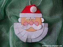 Święty Mikołaj - ozdóbka na list