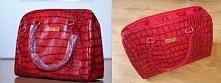 Elegancka, modna, pojemna, czerwona torebka / kuferek firmy Avon z serii Beli...