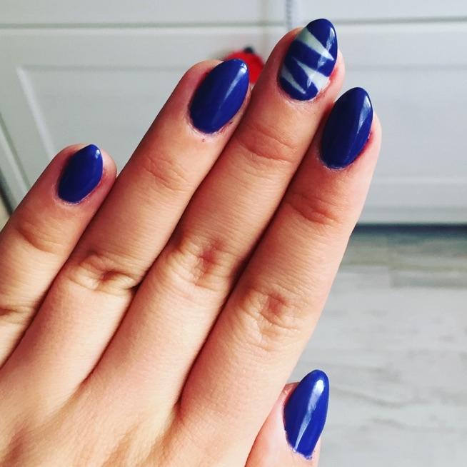 Niebieskie Paznokcie Na Paznokcie Nails Zszywkapl