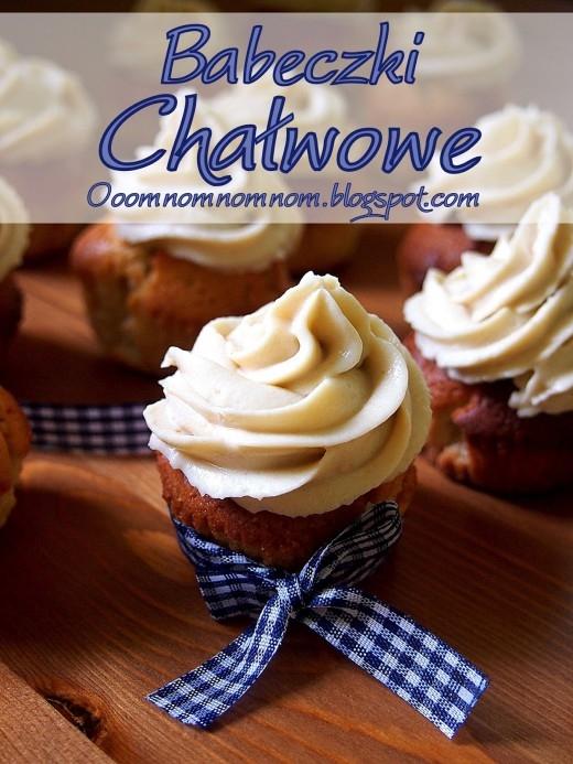 Babeczki chałwowe – chałwowe cupcakes z kremem chałwowym :)