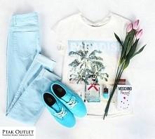 Czas na wiosenne odświeżenie garderoby!  Spodnie i koszulka: Bestseller/Ptak Outlet Buty: Vans/City Sport/Ptak Outlet Perfumy i lakier: Amora/Ptak Outlet