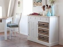 Białe krzesło z kolekcji Lousie Brown wykonane w stylu shabby chic. Cała kolekcja Lousie Brown oraz wiele więcej mebli dostępne na seart.pl