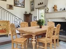 Eleganckie krzesło z kolekcji Santana wykonane z litego drewna świerkowego, jodłowego i sosnowego. Cała kolekcja Santana oraz wiele więcej mebli dostępne na seart.pl