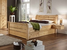 Solidne łóżko z kolekcji Majestic wykonane z litego drewna sosnowego. Cała kolekcja Majestic oraz wiele więcej mebli dostępne na seart.pl