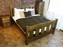 Rustykalne łóżko z kolekcji Mieszko wykonane z litego drewna sosnowego. Cała kolekcja Mieszko oraz wiele więcej mebli dostępne na seart.pl