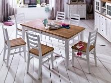 Niepowtarzalny stół z kolekcji Fado wykonany z drewna akacjowego oraz MDF-u. Cała kolekcja oraz wiele więcej mebli dostępne na seart.pl