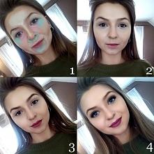 1. kremowe produkty, 2. blend it out, 3. pudrowe produkty, 4. makijaż oczu Zd...
