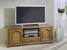 Elegancka szafka RTV z kolekcji Mona wykonana z drewna dębowego. Cała kolekcj...