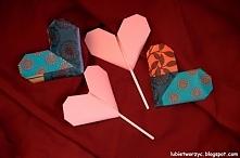 Serce origami z niespodzianką