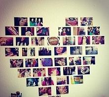 wspaniały pomysł na piękną ścianę . Polecam zrobiłam podobnie! :* ;p