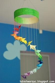 Girlanda z motylami origami w roli głównej
