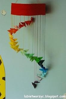 Śliczna girlanda z motylami origami