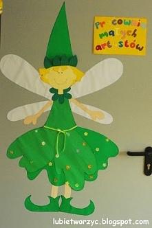 Dekoracje w pracowni artystycznej w przedszkolu