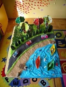 Wakacyjna praca konkursowa wykonana przez dzieci w wieku przedszkolnym