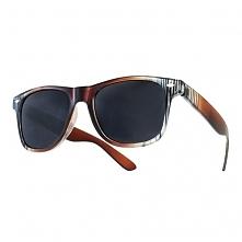 Okulary Strips Brązowe