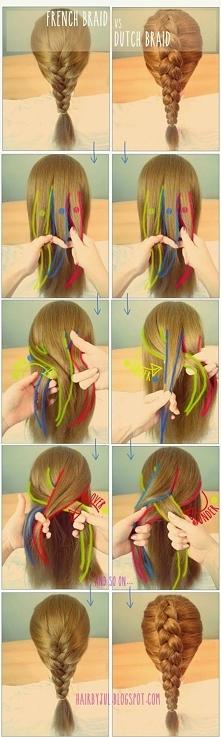 French braid vs dutch braid