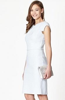 Click Fashion Albi sukienka błękitna Wizytowa sukienka o dopasowanym kroju, u...