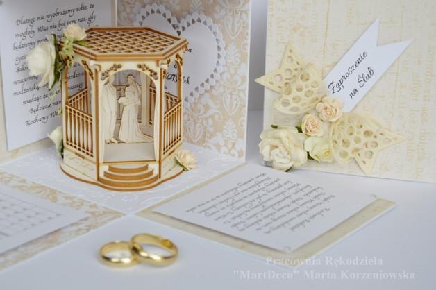 Zaproszenia ślubne - exploding box