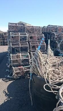 sieci na kraby port w Kilkeel.