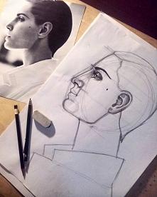 No to zaczynam kolejny portret :)Moze ktoś chętny na zamówienie? zapraszam do siebie na instagram i fb. klik w zdjęcie