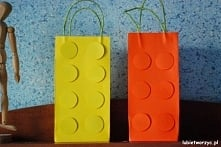 Paczka prezentowa w kształcie klocka LEGO