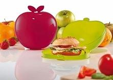 Lunch box plastikowy KOZIOL BOSKOP JABLKO CZERWONY