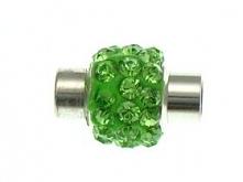 Zapięcie magnetyczne shamballa w kolorze zielonym :*