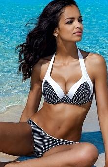 Lorin L2070/6 kostium kąpielowy Uroczy dwuczęściowy kostium kąpielowy, piankowe miseczki, biustonosz wiązany na szyi i plecach