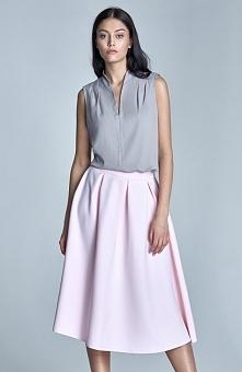 Nife SP29 spódnica róż Rewelacyjna spódnica, długość midi, spódnica na podszewce