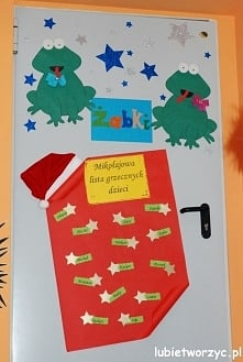 Świąteczna dekoracja drzwi przedszkolnej sali dydaktycznej