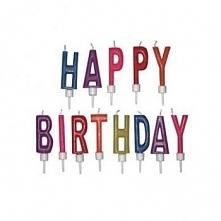 Świeczki urodzinowe Happy Birthday (13 sztuk) - Dexam