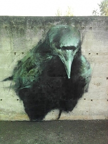 Street Art...The Crow by Me...
