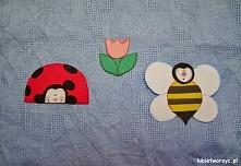 Biedronka, pszczółka i kwiatek - wiosenna dekoracja przedszkolna