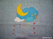 Księżyc, chmury i gwiazdki - papierowa dekoracja