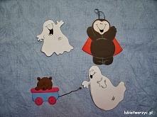 Duszki, miś i biedronka - papierowe dekoracje