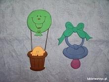Balon i smoczek - papierowe dekoracje