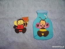Biedronka i pszczółka - dekoracje z papieru