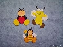 Pszczółka, biedronka i mucha - dekoracje z papieru