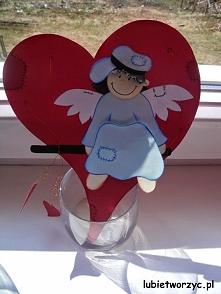 Aniołek w serduszku - dekor...