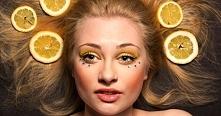 Cytryna - wcierka we włosy: *leczy łupież (pomaga przy AZS - mniej swędzi, rz...