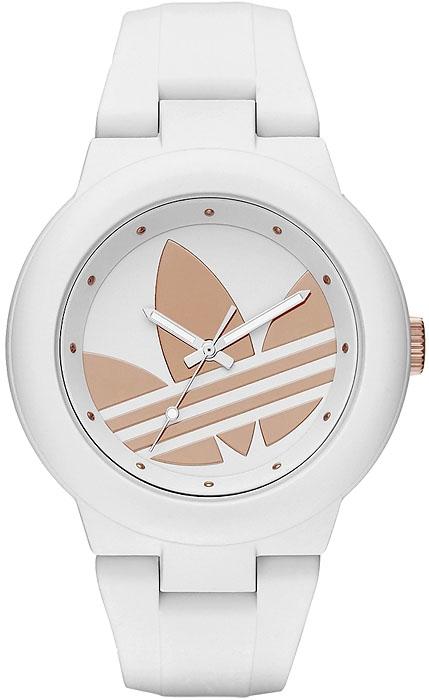 nowa odsłona zegarków Adidas. Biały zegarek damski z dużym złotym logo Adidas na tarczy. świetny zegarek na lato!