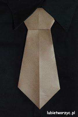 Krawat origami - pomysł na prezent z okazji Dnia Taty czy Dnia Dziadka